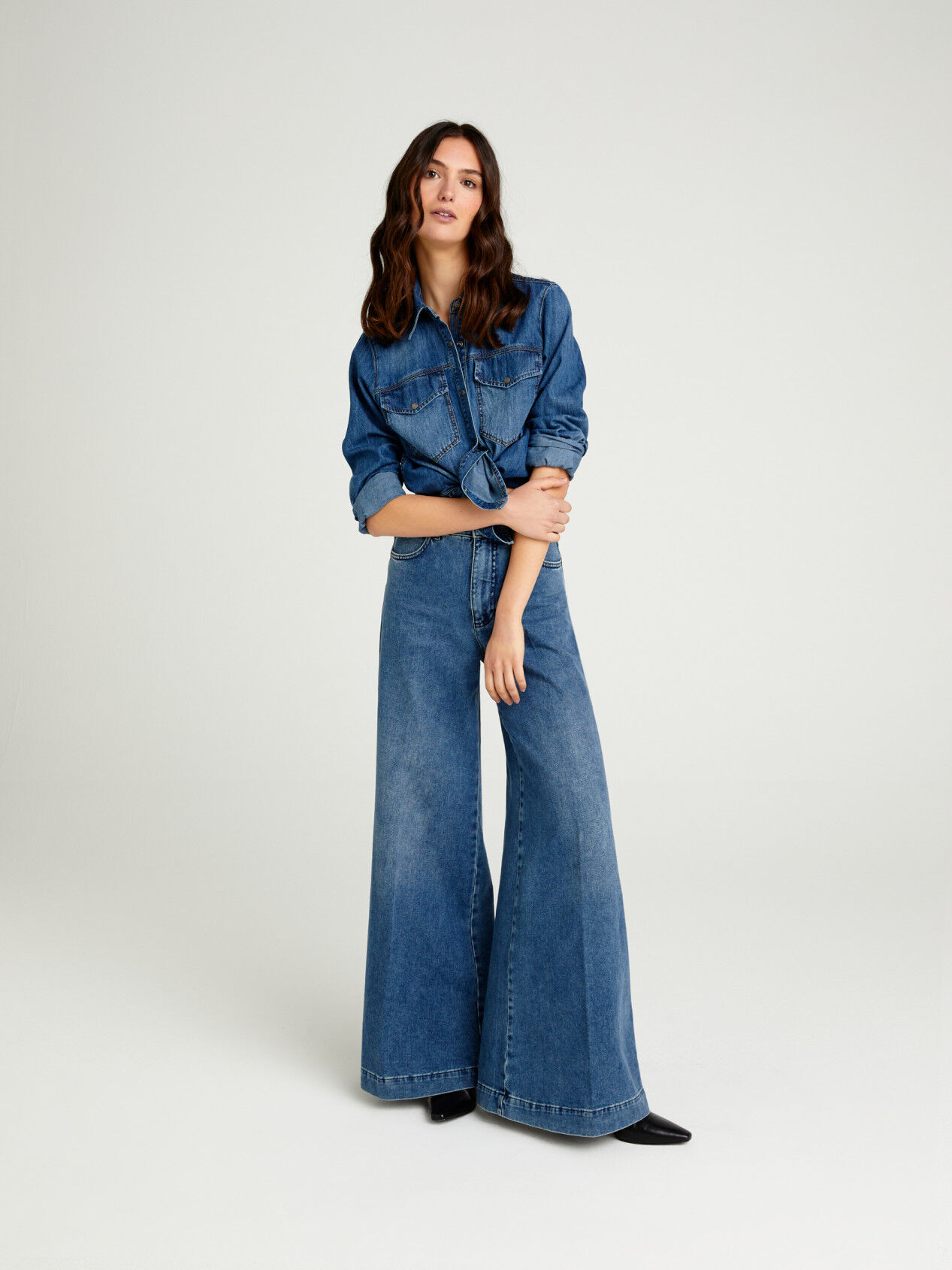 Jeans Palazzo Donna