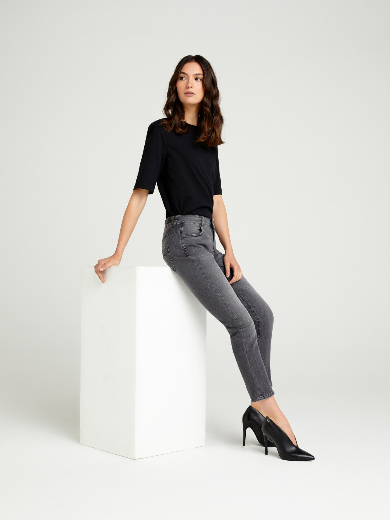 Jeans Carrot Fit Donna