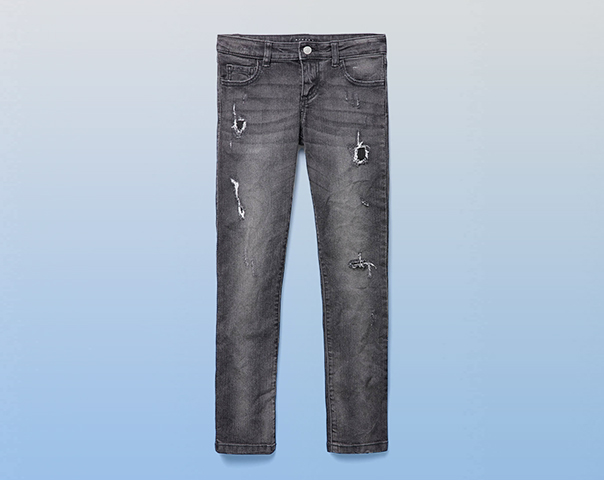 Jeans stretch con rotture