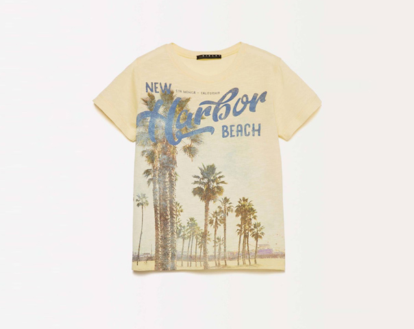 T-shirt con maxi stampa