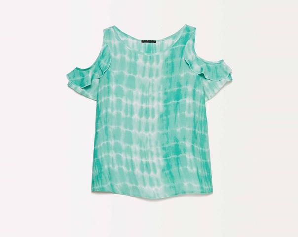 T-shirt tie-dye con oblò