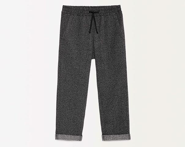 Pantaloni in felpa con risvoltino
