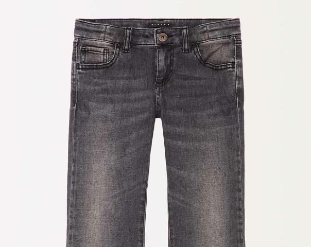 Jeans con pizzo e frange