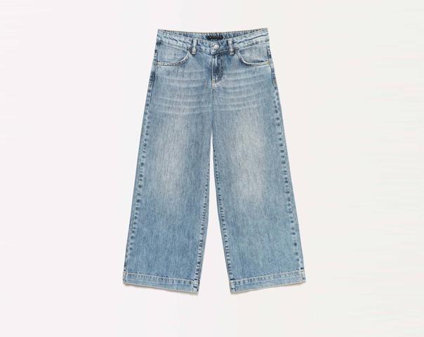 Jeans palazzo con rotture